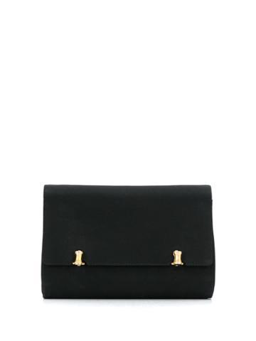 Gucci Pre-owned 1960s Foldover Clutch - Black