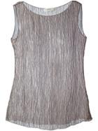 Romeo Gigli Vintage Sheer Tank Top - Grey