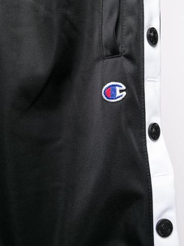 Champion Side Stripe Track Shorts - Black