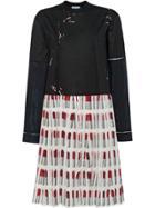 Prada Print Jersey Dress - Black