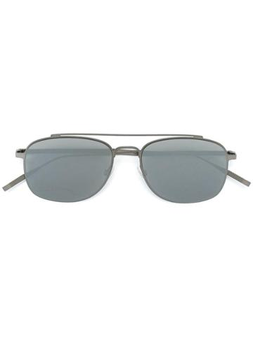 Tomas Maier Double Bar Sunglasses, Men's, Grey, Metal (other)
