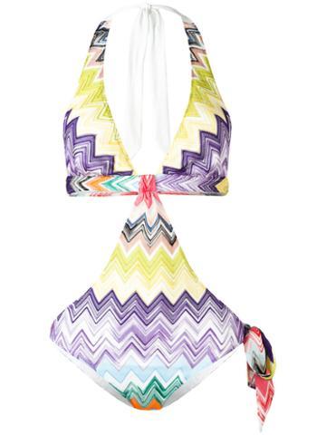 Missoni Zig Zag Swimsuit, Women's, Size: 42, Viscose/nylon/spandex/elastane