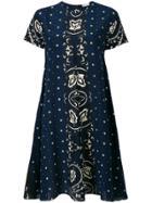 Red Valentino Bandana Print Dress - Blue