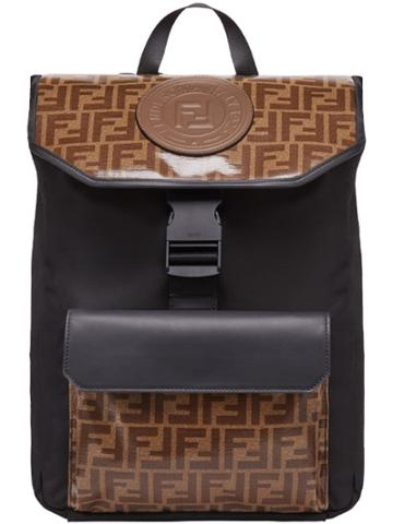 Fendi Monogram Backpack - Black