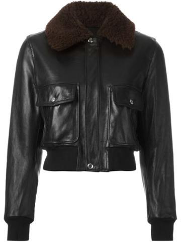 Givenchy Shearling Collar Bomber Jacket