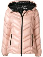 Moncler Down Filled Hooded Puffer Jacket - Pink & Purple