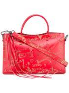 Balenciaga Valentine Blackout City Tote, Women's, Red, Calf Leather