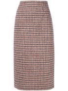 No21 Plaid Midi Skirt - Multicolour