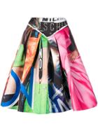 Moschino Trompe L'oeil Print Midi Skirt - Multicolour