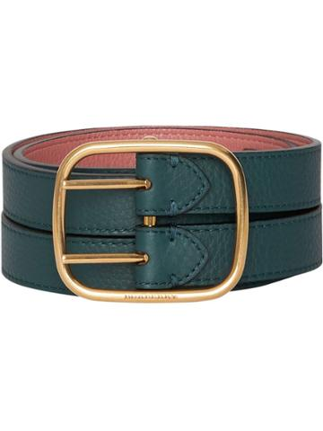Burberry Double-strap Leather Belt - Blue