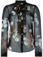 Red Valentino Sheer Floral Print Blouse