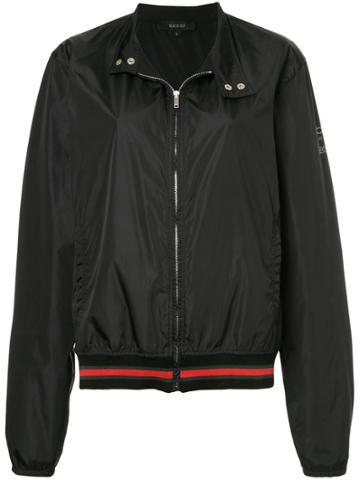 Gucci Vintage Sylvie Web Bomber Jacket - Black