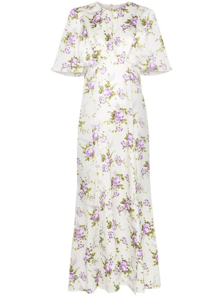 Les Reveries Floral Print Maxi Dress - Neutrals