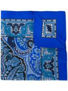 Etro Classic Printed Scarf - Blue