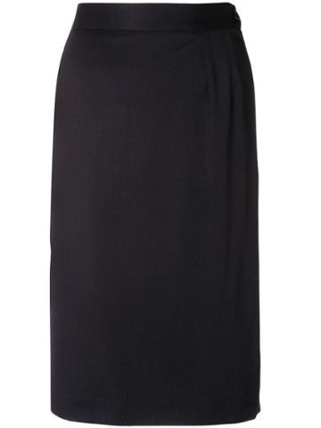 Yves Saint Laurent Vintage 1980's Fitted Short Skirt - Blue