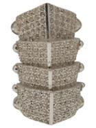 Vivienne Westwood Hinged Armor Ring, Adult Unisex, Size: Medium, Metallic