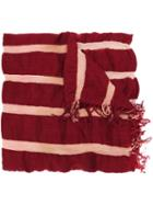 Uma Wang Striped Scarf, Men's, Red, Wool