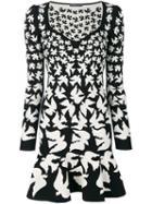Alexander Mcqueen - Swallow Knit Dress - Women - Polyamide/spandex/elastane/viscose/metallic Fibre - S, Grey, Polyamide/spandex/elastane/viscose/metallic Fibre