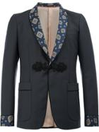 Gucci Patterned Shawl Lapel Blazer - Blue