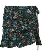 Veronica Beard Floral Ruffle Mini Skirt