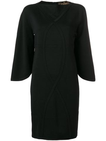 Fendi Vintage 1990 Shift Dress - Black