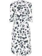 Altuzarra Floral Print Shirt Dress - White