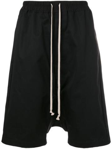 Rick Owens - Drop-crotch Shorts - Men - Cotton - 50, Black, Cotton