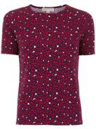 Michael Michael Kors Heart Print T-shirt - Red