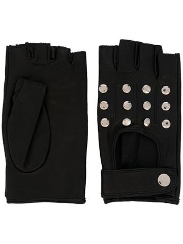 Manokhi Studded Fingerless Gloves - Black