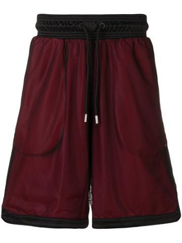 Marcelo Burlon County Of Milan Mesh Basketball Shorts - Black