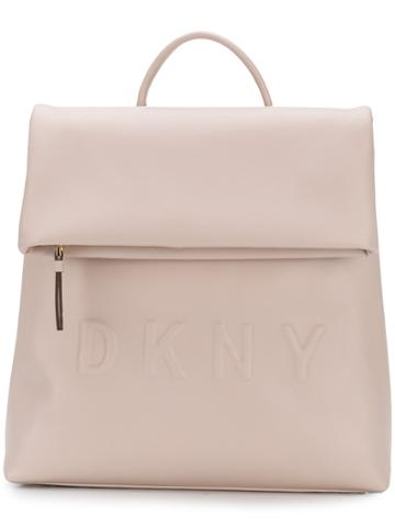 Dkny Foldoved Top Backpack - Pink & Purple