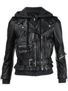 R13 Hooded Biker Jacket