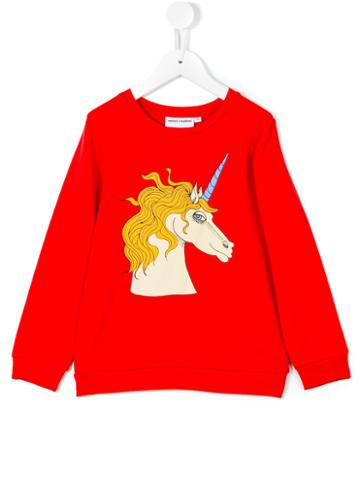 Mini Rodini - Unicorn Sweatshirt - Kids - Spandex/elastane/micromodal - 3 Yrs, Red