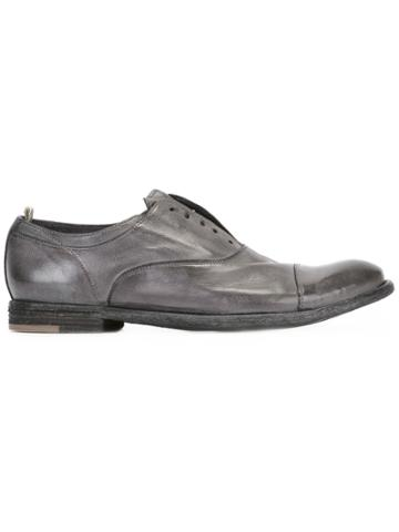 Officine Creative Ignis Laceless Oxford Shoes - Grey