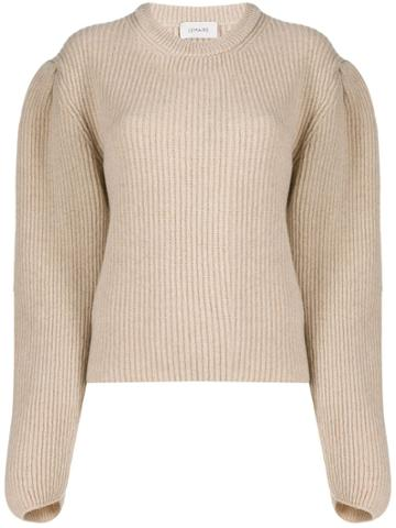 Lemaire Pleated Shoulders Jumper - Neutrals