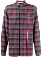 Bally Checked Shirt Jacket - Red