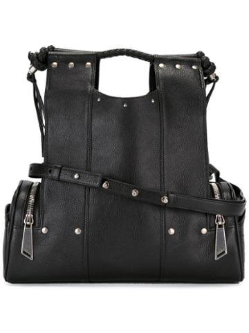 Corto Moltedo Priscilla Tote Bag, Women's, Black, Goat Skin/leather