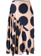 Stella Mccartney Large Polka Dot Print Skirt - Pink & Purple