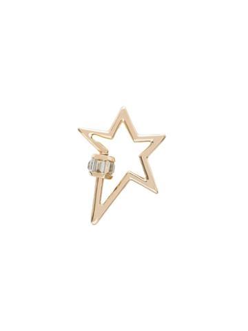 Marla Aaron 14kt Yellow Gold Star Lock Charm - Metallic