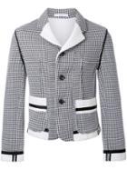 Aganovich Three Button Jacket, Men's, Size: 50, White, Cotton/polyester