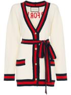 Gucci Oversized Embroidered Cardigan - Neutrals