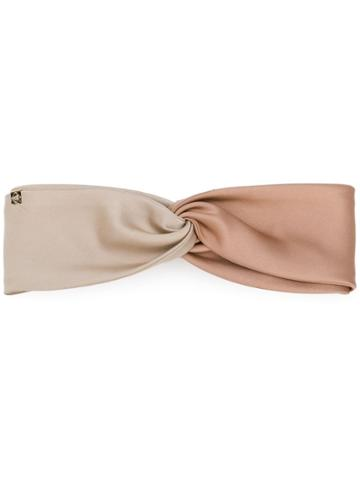 Ca4la Contrast Ruched Hairband - Nude & Neutrals