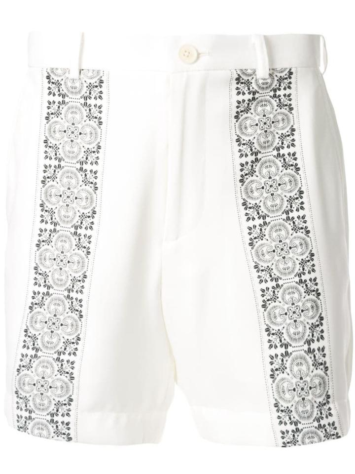 Loveless Tile Print Shorts - White