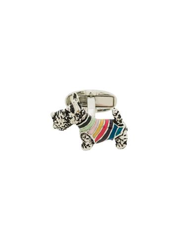 Paul Smith Striped Dog Cufflinks - Silver
