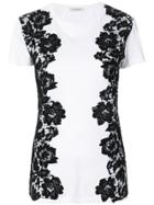 Valentino Lace Panelled T-shirt - White