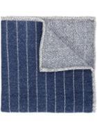 Brunello Cucinelli Striped Contrast Pattern Pocket Square