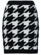 Balmain Knitted Houndstooth Skirt - Black