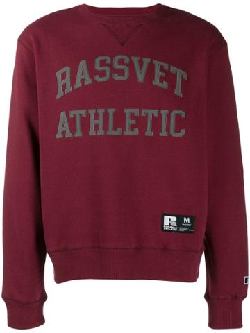 Rassvet Printed Sweatshirt - Red