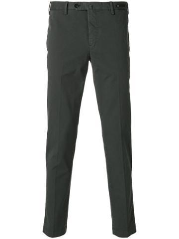 Pt01 - Straight-leg Trousers - Men - Cotton/spandex/elastane - 56, Grey, Cotton/spandex/elastane