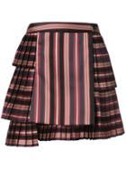 Zimmermann Striped Pleated Skirt - Black